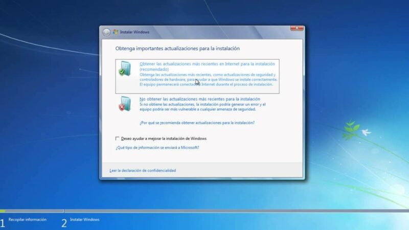 como actualizar windows 7